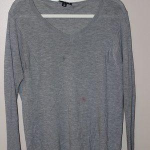 Trouve Grey V-Neck Sweater